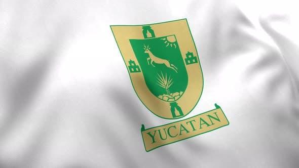 Yucatan Flag (Mexico) - 4K