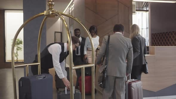 Thumbnail for Bellman Helping Guests with Luggage