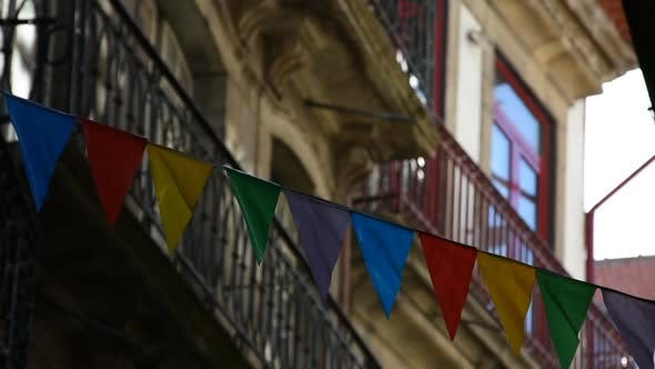 Thumbnail for Party Decoration of the Houses of the Old Streets of the Porto