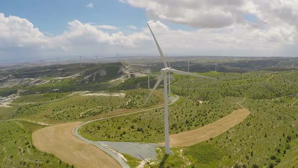 Cover Image for Wind Farm Generating Power for Enterprise, Corporate Environmental Awareness