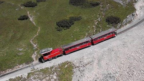 Aerial of Schafberg Train, Upper Austria