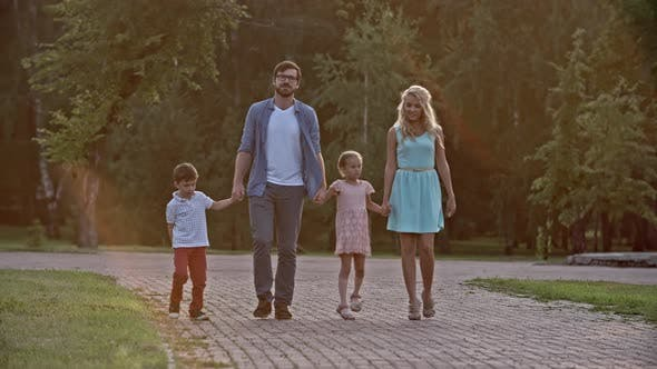 Thumbnail for Family Walking Together