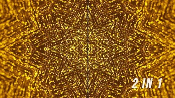 Gold Snowflake - Christmas Abstract Backgrounds