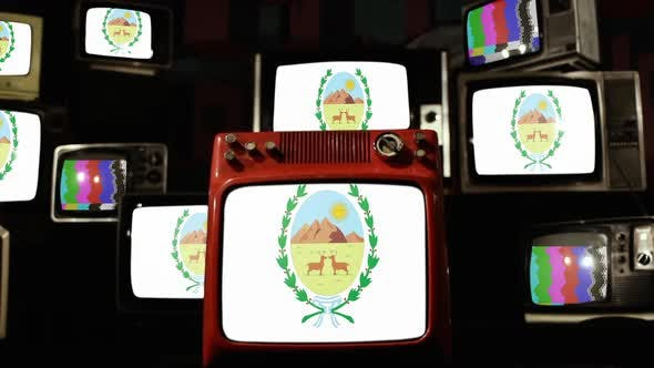 Thumbnail for San Luis Province flag, in Argentina, and Retro TVs.