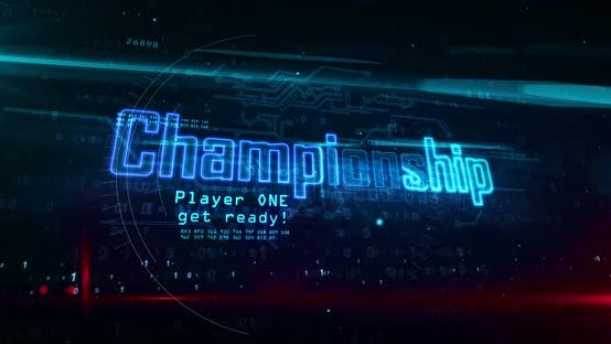 Championship esport game abstract concept