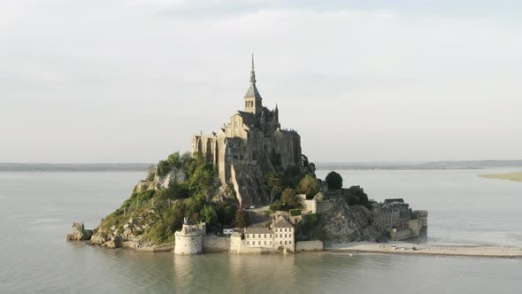 Thumbnail for Famous French landmark Mont-Saint-Michel located