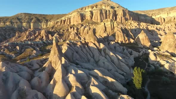 Hoodoos, Fairy Chimneys, Sedimentary Volcanic Rock Formations in Nevsehir Cappadocia Turkey