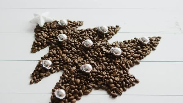 Thumbnail for Coffee Beans Laid in Shape of Fir