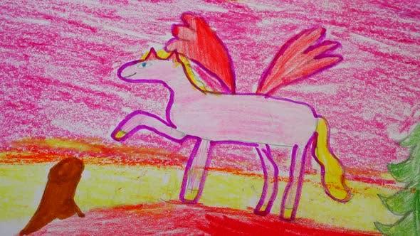 Thumbnail for Zeichnung Pegasus