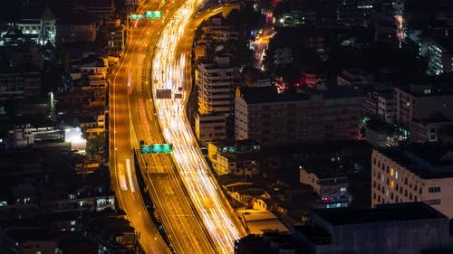 Time Lapse Highway in  Bangkok Thailand