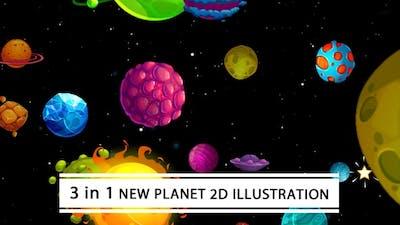 New Planet 2D Illustration
