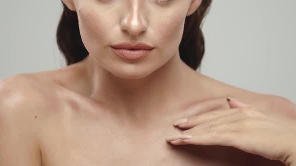 Thumbnail for Closeup of Beautiful Woman Shoulders