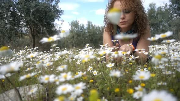 Thumbnail for Young Woman On White Daisy Flowers 4