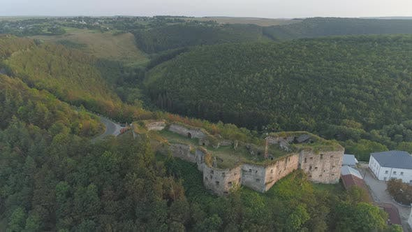 Cover Image for Aerial view of ruins on a hill