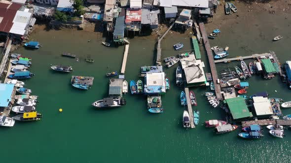 Thumbnail for Aerial view of sea village