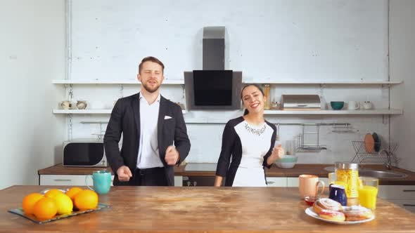 Thumbnail for Man and Woman Dancing and Enjoying New Day