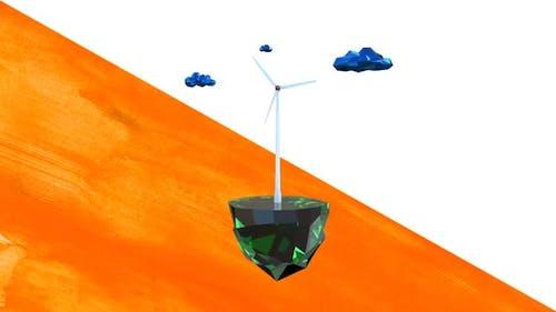 Low Poly Wind Turbine