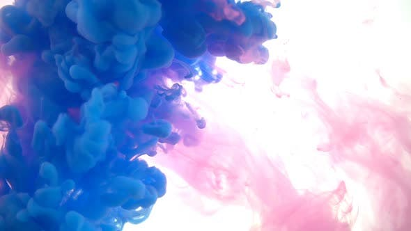 Cover Image for Blue And Pink Paints Mixing