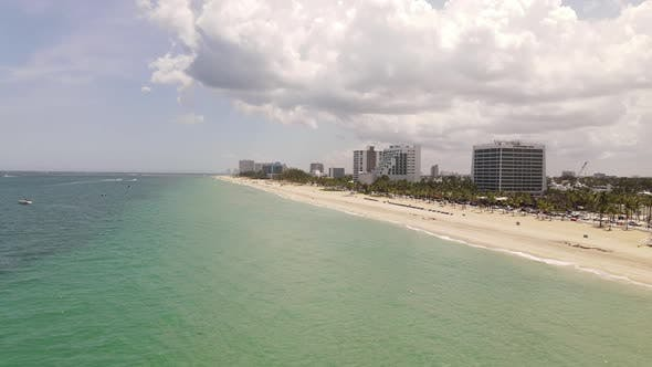 Thumbnail for Aerial video Fort Lauderdale Beach June 2020