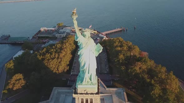 Thumbnail for Flying Over Statue of Liberty, NYC