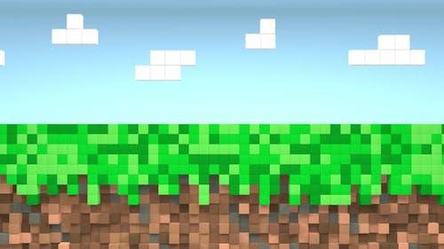 Video spiel geometrische Mosaik Wellen Muster