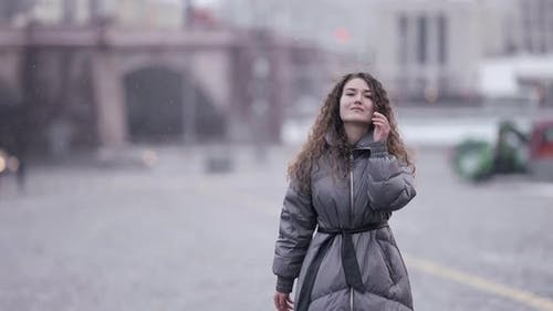 Closeup Portrait of a City Street Wearing a Jacket Cold Season