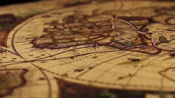 Thumbnail for Vintage Alte Karte Inspektion 1472