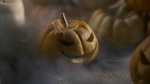 Thumbnail for Halloween Pumpkins With Mystic Fog