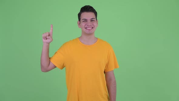 Thumbnail for Happy Young Multi Ethnic Man Pointing Up