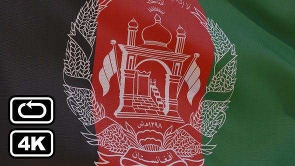 Afghanistan Flag 4K Seamless Loop