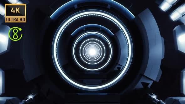 4K - Loop Sci-Fi Corridor