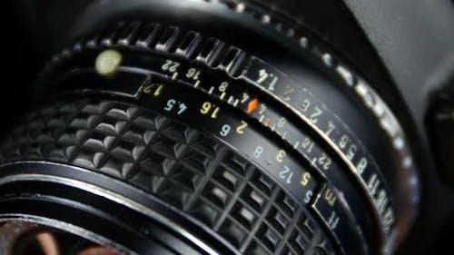 Wheel on Camera Aperture, Close Up