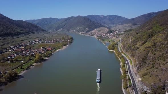Thumbnail for Aerial of Wachau Valley, Austria