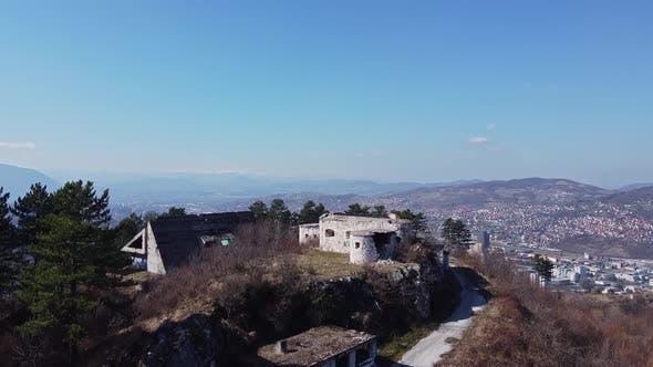 Aerial Shot Of Abandoned Buildings   1