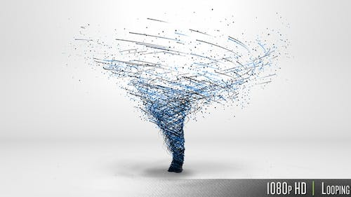 Tornado Swirl with Connected Lines and Particles Concept