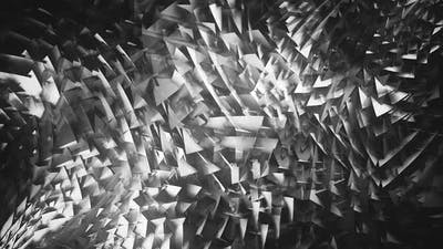 Black and White 3D Triangles