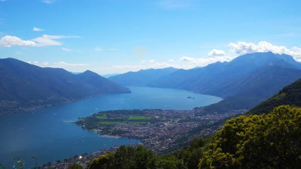 Lake Lugano, Switzerland Border