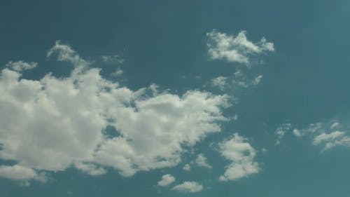 Cloudy Blue Sky In Summer Spring Clouds