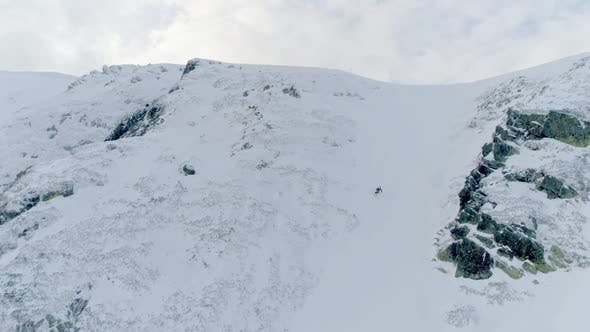 Thumbnail for Skiing Downhill Aerial
