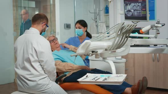 Hygienic Cleaning of Mouth Using Dental Tools