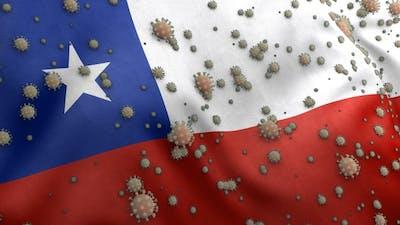Covid Chile Flag / Corona Chile Flag