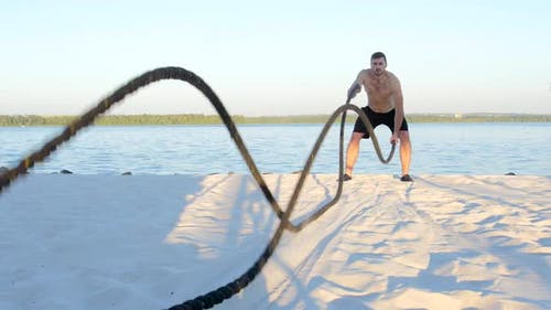 Battle Ropes on the River Bank