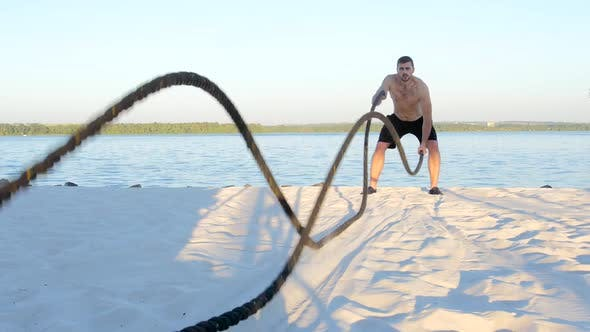 Thumbnail for Battle Ropes on the River Bank