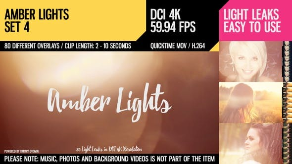 Thumbnail for Amber Lights (4K Set 4)