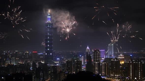 Thumbnail for Taipeh Feuerwerk