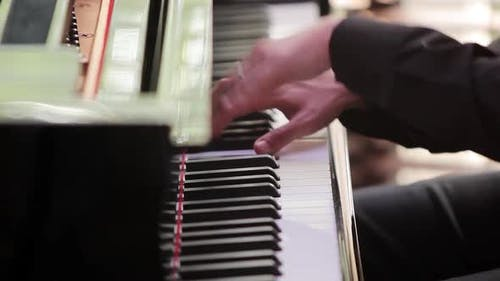 Pianist Plays the Piano.