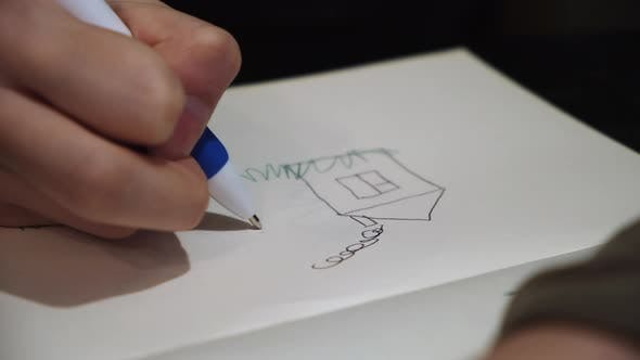 Thumbnail for Child drawing a picture