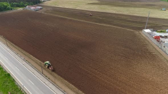 Thumbnail for Heavy Agricultural Machinery Moving on Agricultural Field 4k