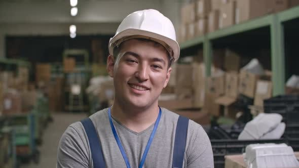 Thumbnail for Portrait of Smiling Asian Factory Worker