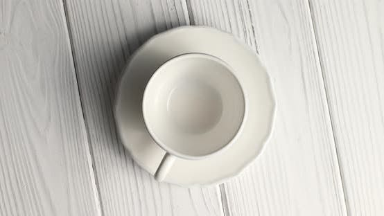 Thumbnail for Empty Cup with Saucer